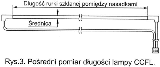 pośredni pomiar długości lampy ccl