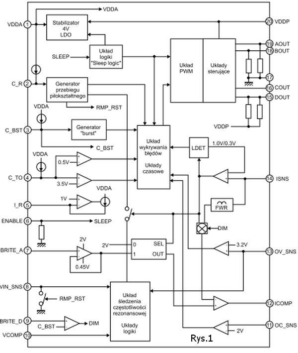 schemat blokowy układu lx1962