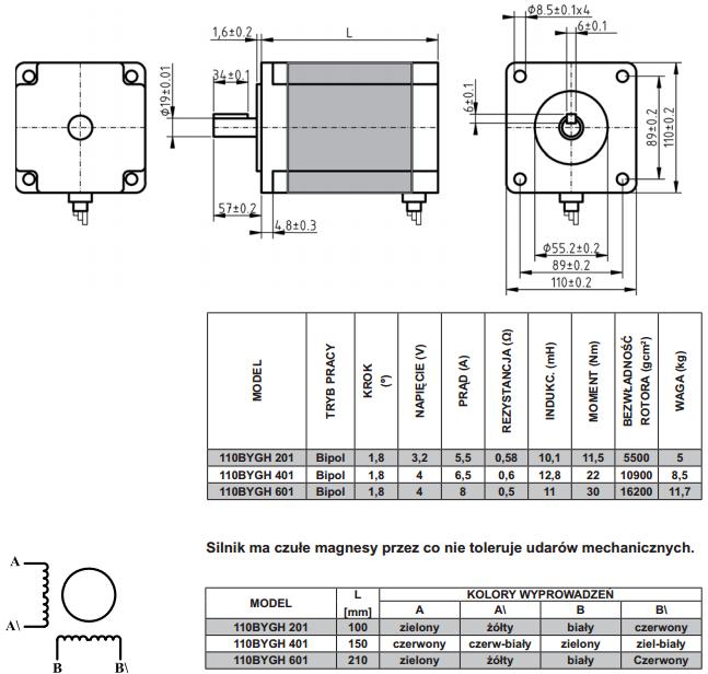 schemat silników krokowych 110bygh
