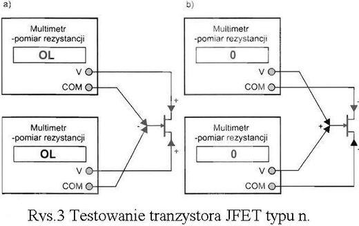 testowanie tranzystora jfet