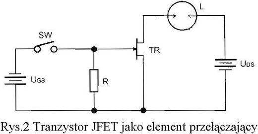 tranzystor jfet jako element przełączający