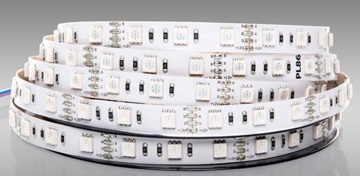 Taśma LED RGBW, która emituje wszystkie kolory z jednej diody.