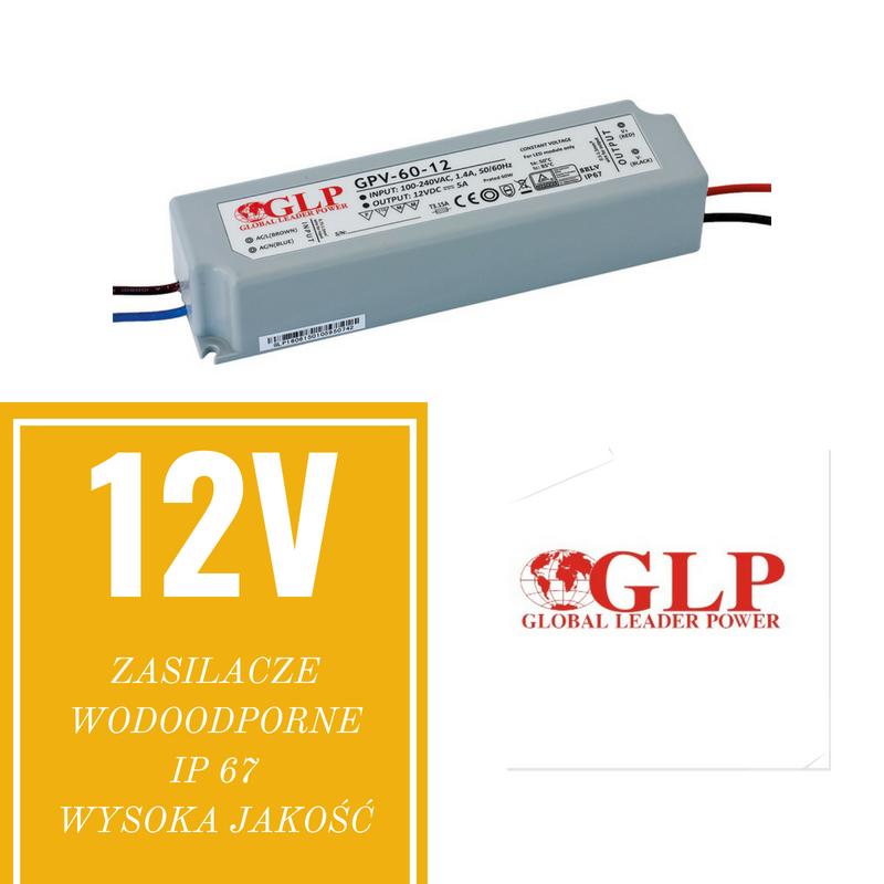 Zasilacze wodoodporne IP 67 wysoka jakość