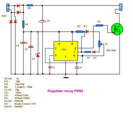 regulator mocy pwm