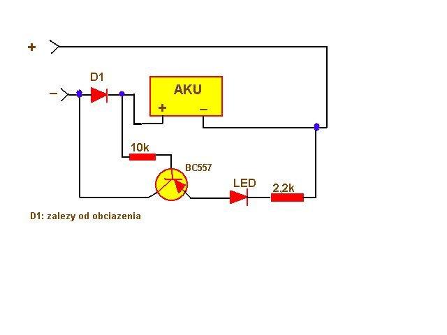 schemat kontola ładowania akumulatorów