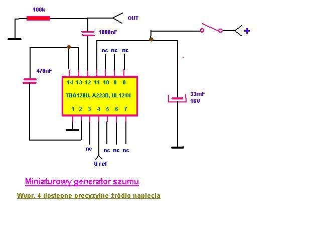 schemat minigenerator szumu