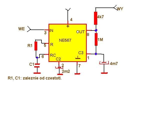 schemat r1 c1 zależności od częstotliwości filtr