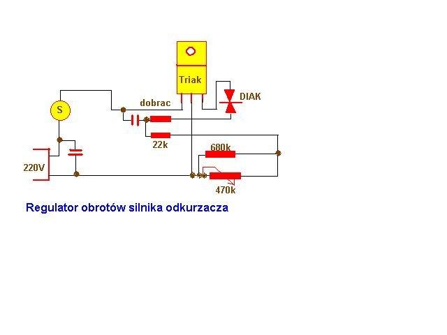 schemat regulator obrotów silnika odkurzacza