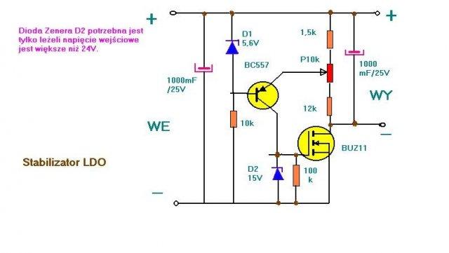 schemat stabilizator ido