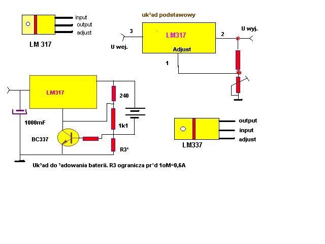 schemat układ do ładowania baterii