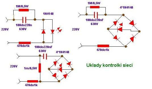 schemat układy kontrolki sieci
