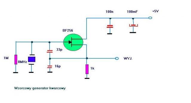 schemat wzorcowy generator kwarcowy