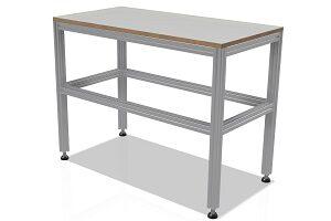 Stół z profili aluminiowych o wymiarach 1000x500x720 mm